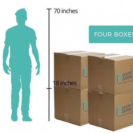 Four Boxes Storage Size - Door to Dorm
