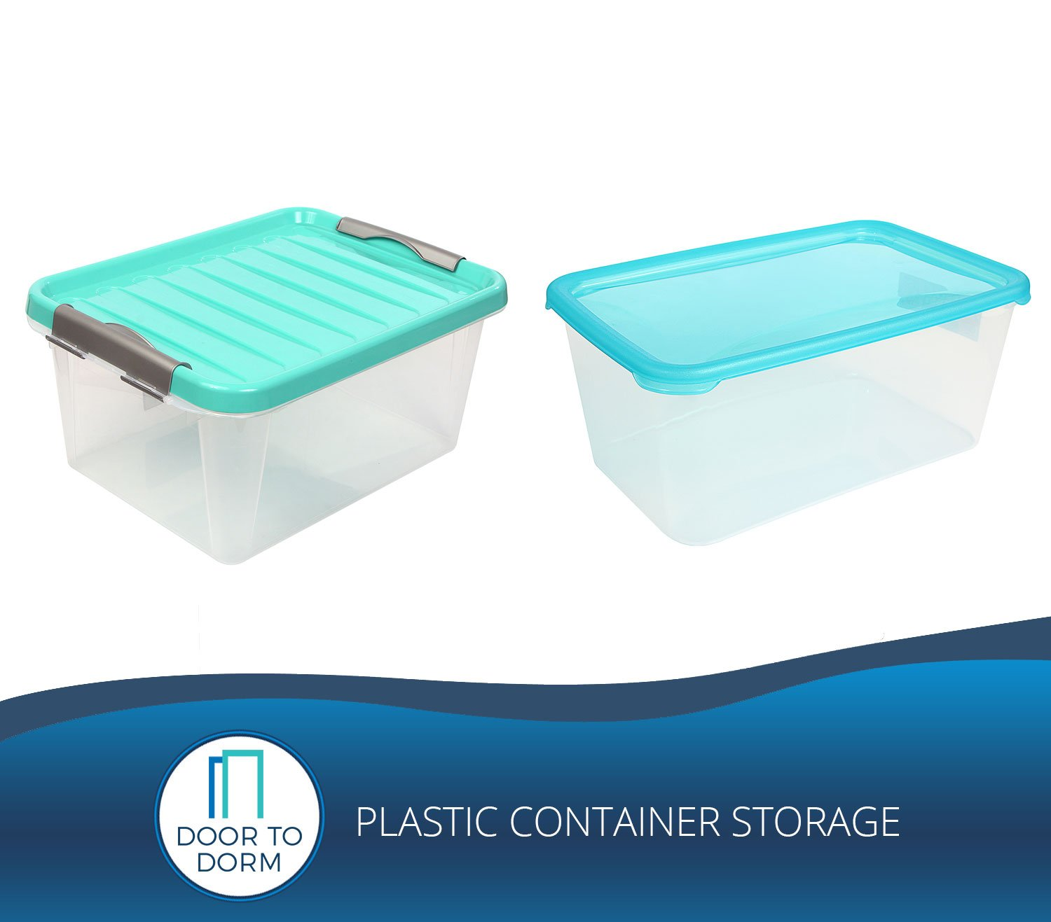 Plastic Container Storage Door to Dorm